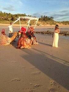 Red Sun Camels Sharon and Paul Hughs from Perth Renewal of Vows Ceremony