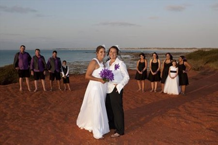 Kate & Cassie Gantheaume Ceremony Broome WA