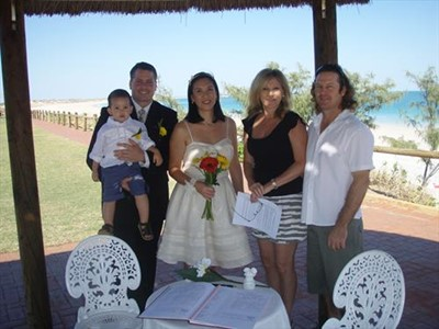 Roger and Karen Beautiful Cable Beach Wedding