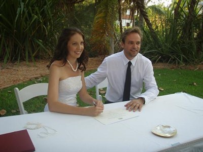 Brenden & Debbie Nichols Cable Beach Club Wedding at the Lilly Pond Gardens
