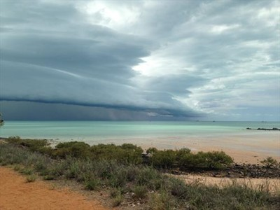 same same but different storm over looking Roebuck Bay Broome