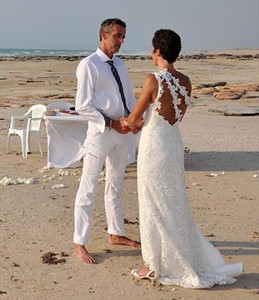 Aurelia and Pascal from France to Broome for their special Wedding day