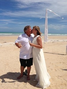 Trevor and Michele Trew Cable Beach Wedding