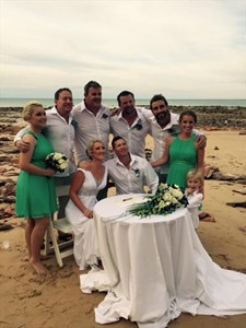 Neil and Candy Crisp's Eco Beach Wedding