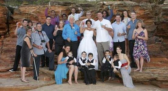 Craig and Renou Beautiful Entrance Point Wedding Broome