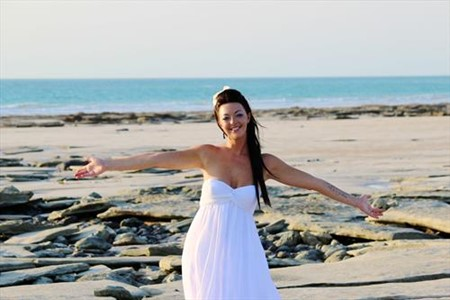 Stefania Chambers just Married on Cable Beach Western Australia